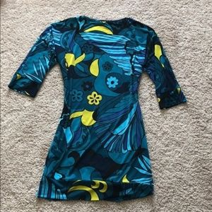 Sexy Blue Trina Turk 3/4 Sleeve Dress